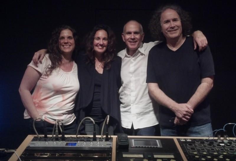 Patricia Sullivan, Starr Parodi, Greg McClatchy & Jeff Eden Fair at Bernie Grundman Mastering Studios mastering the Bert Stern Original Mad Man soundtrack release